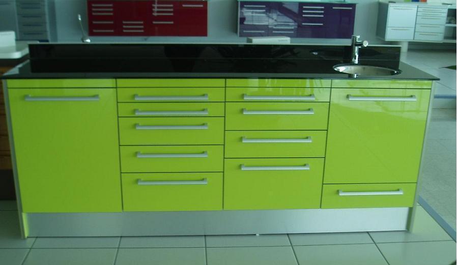 conjunto de muebles de madera luxe verde l m